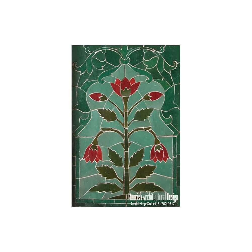 Mural Backsplash Custom Tile Murals Moroccan Mosaic Tile Murals