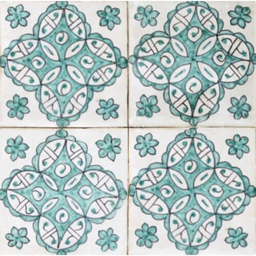 Moroccan Hand Painted Tile 10