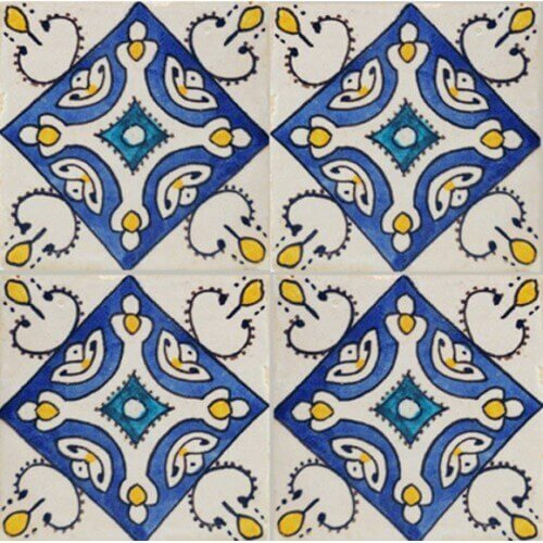 Moroccan Hand Painted Tile 16
