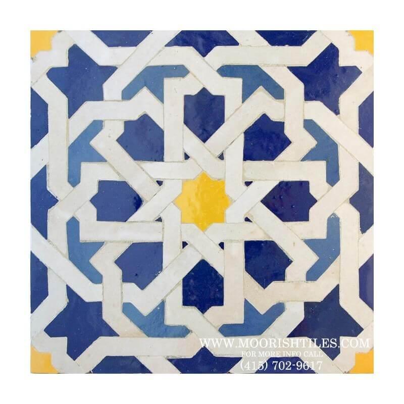 White Moroccan Tile Backsplash