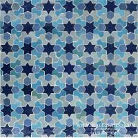 Moroccan Tile aqua blue