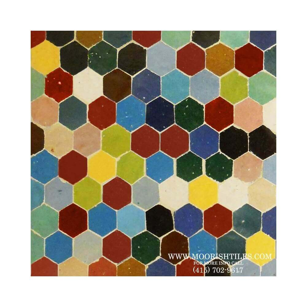 Hex Ceramic Tiles Zellige Tile Mosaic Hexagon Tile