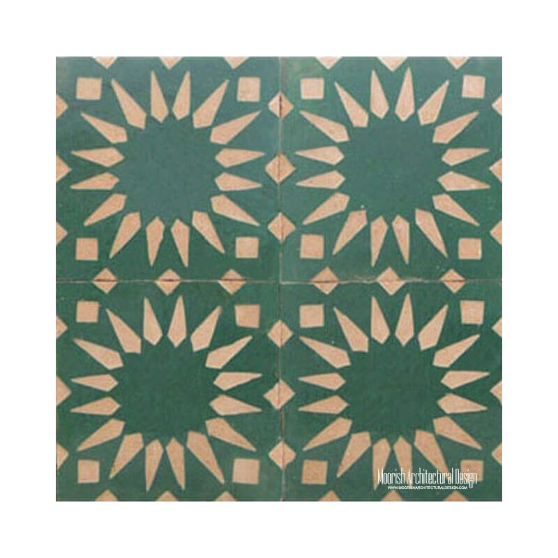 Rustic Moorish Tile fireplace