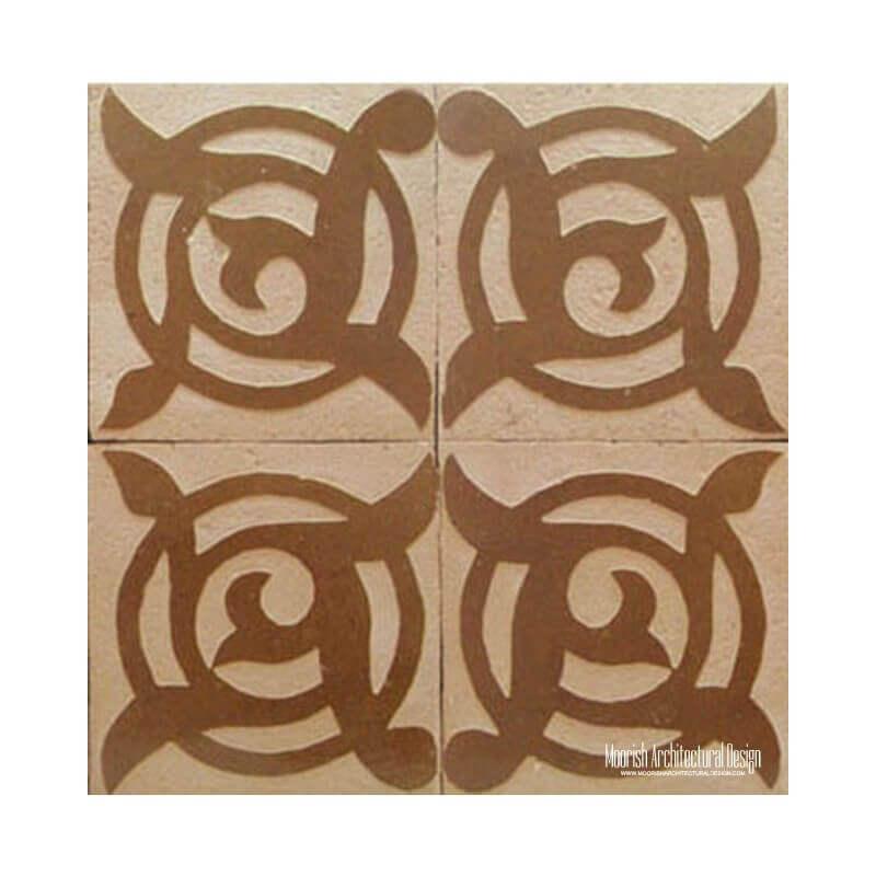 Rustic Moroccan wall tile