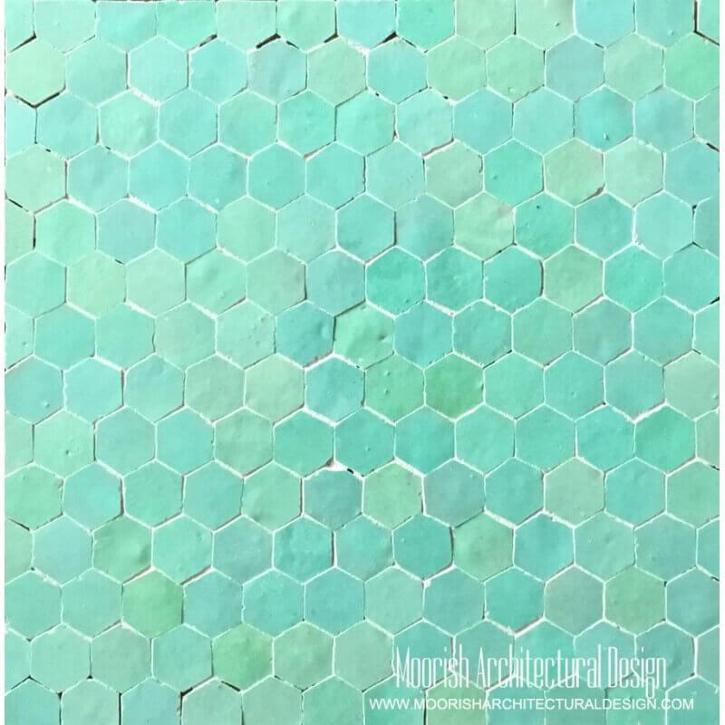Aqua Green Hexagone Tiles