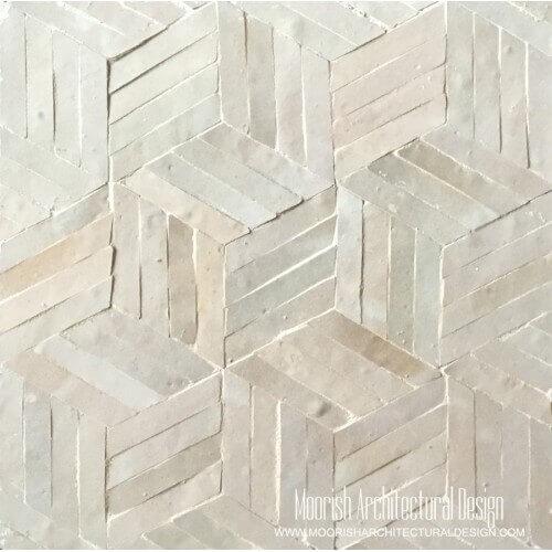 Beige Pinwheel Tile
